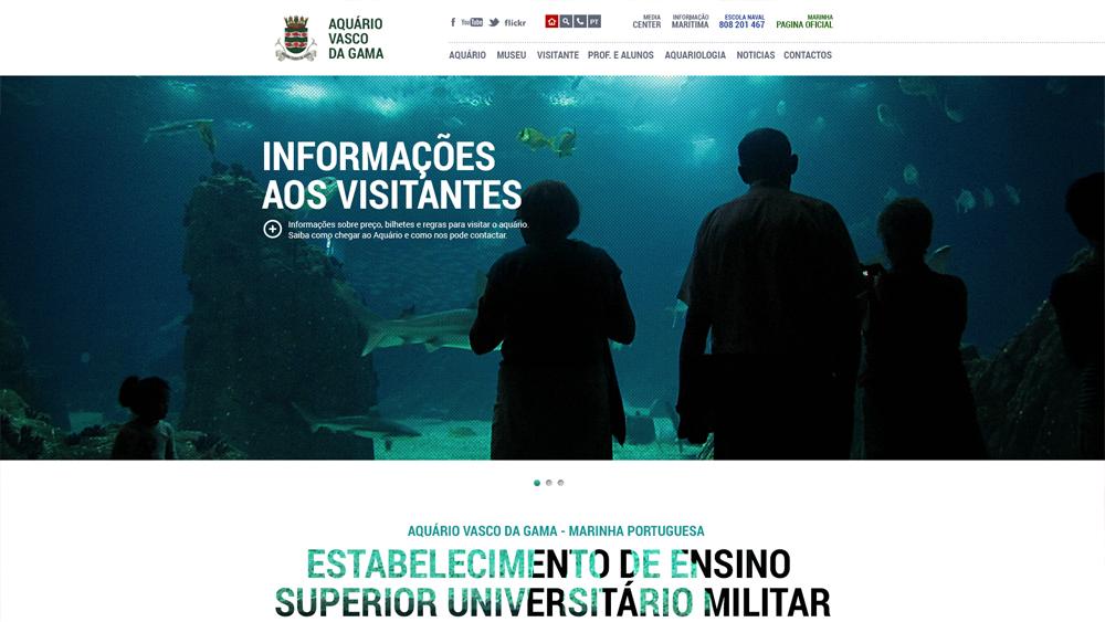 Aquario Vasco da Gama – website