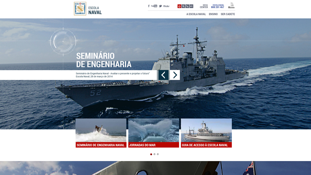Escola Naval – website